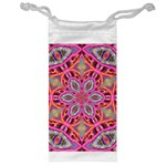 Pink Kaleidescope Fractal Jewelry Bag