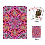 Pink Kaleidescope Fractal Playing Cards Single Design