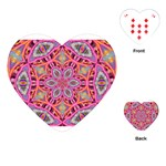 Pink Kaleidescope Fractal Playing Cards (Heart)