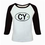 CY - Cyprus Euro Oval Kids Baseball Jersey