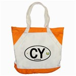 CY - Cyprus Euro Oval Accent Tote Bag