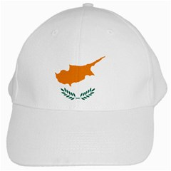 Cypriot Flag White Cap from intlgiftshop.com Front