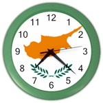 Cypriot Flag Color Wall Clock