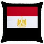 Egyptian Flag Throw Pillow Case (Black)