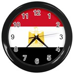 Egyptian Flag Wall Clock (Black)