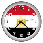 Egyptian Flag Wall Clock (Silver)