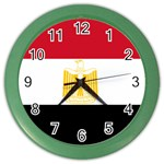 Egyptian Flag Color Wall Clock