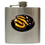 butterfly-pop-art-print-11 Hip Flask (6 oz)