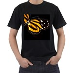 butterfly-pop-art-print-11 Black T-Shirt (Two Sides)