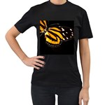 butterfly-pop-art-print-11 Women s Black T-Shirt (Two Sides)