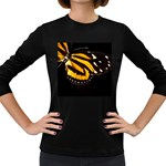 butterfly-pop-art-print-11 Women s Long Sleeve Dark T-Shirt