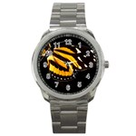 butterfly-pop-art-print-11 Sport Metal Watch