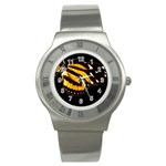 butterfly-pop-art-print-11 Stainless Steel Watch