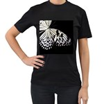 butterfly-pop-art-print-13 Women s Black T-Shirt