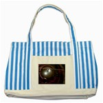wallpaper_lattice Striped Blue Tote Bag