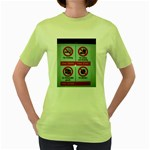 Subway_sign Women s Green T-Shirt