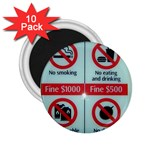 Subway_sign 2.25  Magnet (10 pack)