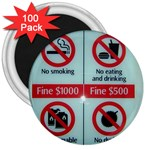 Subway_sign 3  Magnet (100 pack)