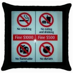 Subway_sign Throw Pillow Case (Black)