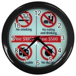 Subway_sign Wall Clock (Black)