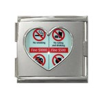 Subway_sign Mega Link Heart Italian Charm (18mm)