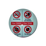 Subway_sign Rubber Round Coaster (4 pack)