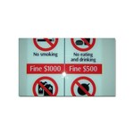 Subway_sign Sticker Rectangular (100 pack)