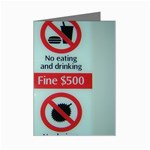 Subway_sign Mini Greeting Cards (Pkg of 8)