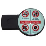 Subway_sign USB Flash Drive Round (1 GB)