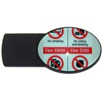 Subway_sign USB Flash Drive Oval (2 GB)
