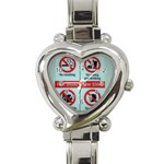 Subway_sign Heart Italian Charm Watch