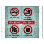 Subway_sign Jigsaw Puzzle (Rectangular)