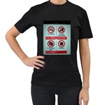 Subway_sign Women s Black T-Shirt (Two Sides)