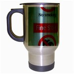 Subway_sign Travel Mug (Silver Gray)