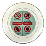 Subway_sign Porcelain Plate