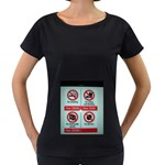 Subway_sign Maternity Black T-Shirt