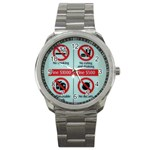 Subway_sign Sport Metal Watch