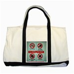 Subway_sign Two Tone Tote Bag