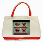 Subway_sign Classic Tote Bag (Red)