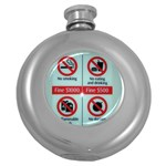 Subway_sign Hip Flask (5 oz)