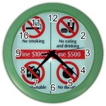 Subway_sign Color Wall Clock