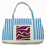 32282-2-317997 Striped Blue Tote Bag