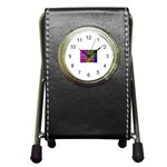 ART-z-100jgp-23302 Pen Holder Desk Clock