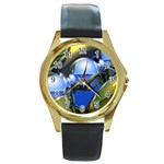 bluegold01b-709182 Round Gold Metal Watch