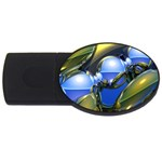 bluegold01b-709182 USB Flash Drive Oval (1 GB)