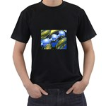 bluegold01b-709182 Black T-Shirt (Two Sides)
