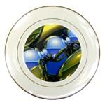 bluegold01b-709182 Porcelain Plate