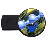 bluegold01b-709182 USB Flash Drive Round (4 GB)