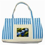 bluegold01b-709182 Striped Blue Tote Bag