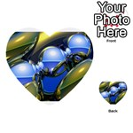 bluegold01b-709182 Multi-purpose Cards (Heart)
